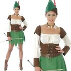 Adult Ladies Forest Archeress Robin Hood Peter Pan Fancy Dress Costume Book Week