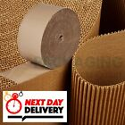 CORRUGATED CARDBOARD ROLLS - 75M FULL ROLLS - STRONG SHEETS - 24 HR DELIVERY