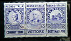 1936 ITALY triptych stamps Revenue cts 50 for Road Haulage TRUCK