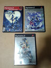 Kingdom Hearts Trilogy PS2 I 1.5 II Playstation 2 Play Station 3x Games