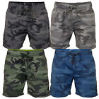 Mens Camouflage Swim Shorts Crosshatch Army Camoswim Military Knee Length Summer