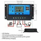 20A 30A 12V/24V Solar Panel Charger Controller Battery Regulator USB LCD 2018 US