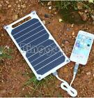 Portable 5V 10W Solar Power Charging Panel USB Charger For Samsung IPhone Tablet