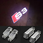 2PC Car LED Door Warning Light welcome Logo Projector For Audi a4 a5 a6 TT A8 RS