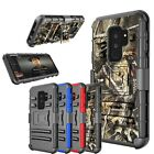For Samsung Galaxy S9 Plus Holster Belt Clip Shock Kickstand Stand Case Cover