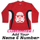 Stormtrooper Star Wars Hockey Practice Jersey Optional Name And Number Red