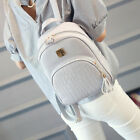 Womens PU Leather Fashion School Braided Backpack Travel Shoulder Bag Rucksack