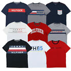 Tommy Hilfiger T-shirt Mens Graphic Text Tee Short Sleeve Logo Crew V-Neck New image