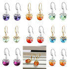 NEW Crystal Rhinestone Silver/Gold Plated Ear Stud Dangle Earrings Jewelry Gift