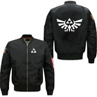 2018 Legend Zelda spring autumn men's jacket collar code Air Force pilots jacket