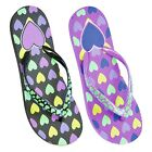 New Kids GIRLS HEART PRINT FLIP FLOPS WITH PRINTED STRAP