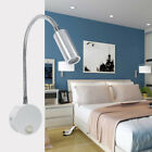 LED Wall Reading light Modern Fixture Metal Lamp Sconces Flexible Nightlight