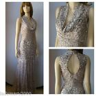 BNWT Phase Eight Collection 8 GRETA Sequin Party Evening Petal/Silver Dress
