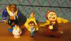 5pc. DISNEY BEAUY AND THE BEAST  FIGURES COULD BE CAKE TOPPERS