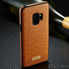 Samsung Galaxy S9/S8+ Plus SLIM Leather Back Thin TPU Case Cover Galaxy Note 9/8