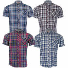 Mens Checked Tartan Shirts Tokyo Laundry Ashmore Collared Short Sleeved Summer