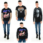 Mens Rebels King Crew Neck Cotton Tee T Shirt Top Casual Gym Jumper Sweater
