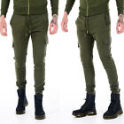 Mens ENTT King Tracksuit Bottoms Joggers Pants Jogging Gym Casual Khaki Green