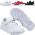 Kids Boys Girls White Student School Shoes Sports Running Shoes Casual Sneakers