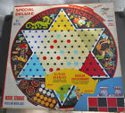 Everything here, Chinese Checker & Checkers Metal Board w/  MARBLES & CHECKERS