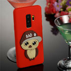 For Samsung Galaxy A8 Phone 3D Cute Owl Soft TPU Silicone Protective Case Cover
