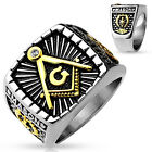 Lucia 316 Die-Cast Stainless Steel Masonic Freemason Square Ring sizes 9- 13