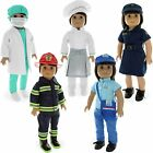 Doll Clothes - 22 pieces - 5 Sets - Labor & Career Outfit Sets Fits American Gir