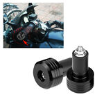 """2x Universal Motorcycle 22mm 7/8"""" Handle Bar Ends Weights Plugs Grips Aluminum"""