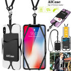 Universal Cell Phone Lanyard Credit Card Holder Silicone iPhone Necklace Strap