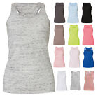 BELLA WOMENS FLOWY RACER BACK TANK TOP HOLIDAY BEACH SUMMER TEE S-XL BL8800
