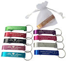 50pcs  Personalized Engraved Bottle Opener Key Chain Wedding favor +organza bags