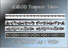 ARMBAND TATTOO temporary arm celtic barbed wire  waterproof last 1 WEEK+