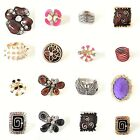Ladies rings statement large rings adjustable costume jewellery bright colours