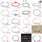 925 sterling Silver Plated Bracelet Bangle Adjustable Jewelry Women Party Gift