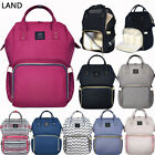 US GENUINE LAND Multifunctional Baby Diaper Backpack Changing Bag Nappy Mummy