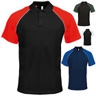 KARIBAN MENS BASEBALL CONTRAST COTTON PIQUE POLO SHIRT X-XXL KB226