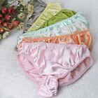 5 PACK 100% Pure Silk Sexy Embroidery  Women's Panties Underwear Lingerie M L XL