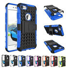 Shockproof Stand Tyre Lines Silicone Rubber Cover Case For Apple iPhone 7 Plus