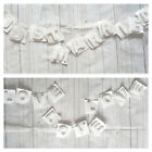 JUST MARRIED / LOVE 3D Hand Made Paper Garland White Wedding Banner Letters