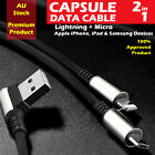 CAPSULE USB DATA CABLE 2 IN 1 FAST CHARGING FOR APPLE, SAMSUNG PREMIUM PRODUCT