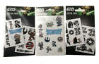 Star Wars Empire And Rebel Temporary Tattoo Pack / May The Force Shimmer Sticker £2.95 GBP on eBay