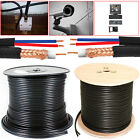 100M 305M RG59 +2 Shotgun 2 Core CCTV Video and Power Cable Reel DVR Video Coax