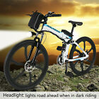 ANcheer 25'' Folding Electric Mountain Bike Bicycle Ebike & W/ Lithium Battery