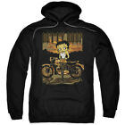 Betty Boop Rebel Rider Pullover Hoodies for Men or Kids $27.05 USD