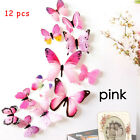 12X 3D Simulation Butterfly Art Decors Decoration Room Wall Stickers Decal PINK