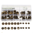 30Set 15mm Antique Brass Snap Fasteners Popper Press Stud Button Leather Tool Ki