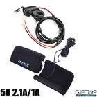 Motorcycle Winter Warmer Handlebar Gloves+Dual USB 5V 2.1A Charger Power Adapter
