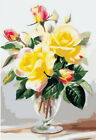 DIY Paint Painting Flower Number Kit Embroidery Cross Crafts Stitch Home Decor