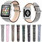 Birds Pattern Print Leather Watch Strap For Apple Watch Series 3 2 1 Band Belt