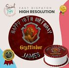 HARRY POTTER - GRYFFINDOR EDIBLE BIRTHDAY CAKE TOPPER DECORATION PERSONALISED